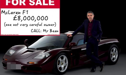 Rowan Atkinson is selling his infamous McLaren F1 for £8 Million !