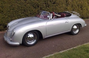 Hire a classic Porsche 356 Speedster. The perfect choice for your wedding car hire.