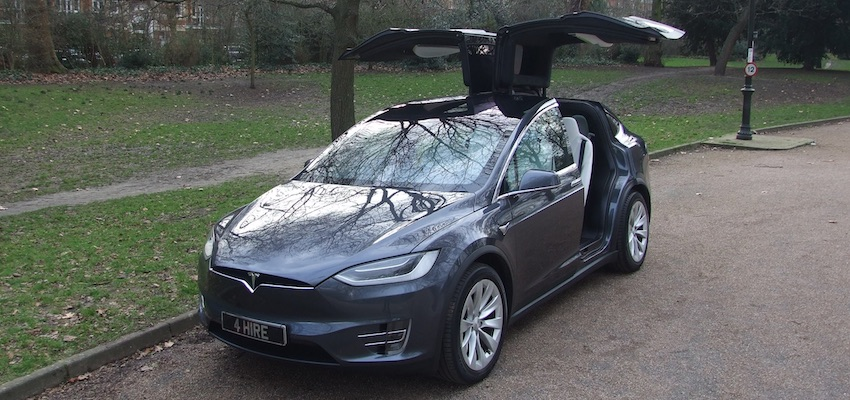 Tesla Model X Hire | Electric Car Hire London